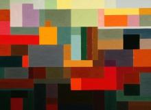 Autumn_Series Pause, Oil on canvas(130x100cm)