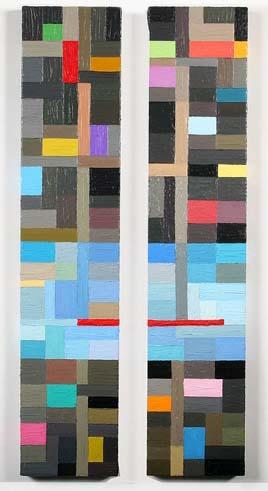 Carnival Pair, Oil On Canvas (110x23cm)