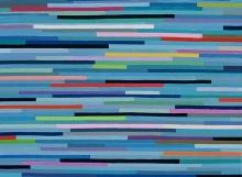 Summer Blues, Oil on Linen (81x72cm)